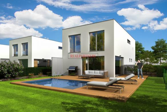 Samostatný rodinný cihlový dům 5+kk o ploše 166,5 m² + terasa 17,5 m² na pozemku 593  m².