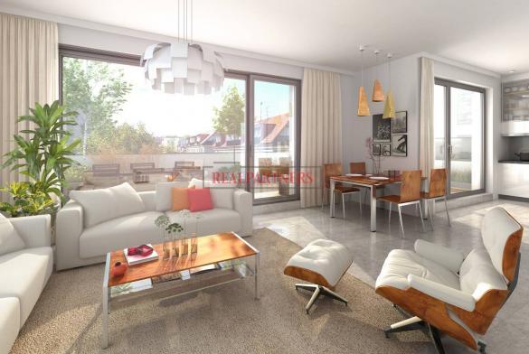 Nový byt 4+kk s dvěma koupelnami o ploše 97,8 m² + balkon 31,4 m² na Praze 6 - Liboc.