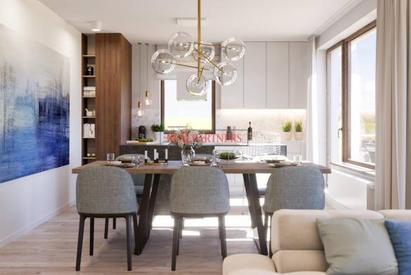 Nový byt 3+kk o ploše 85,7 m² + 2 x balkón 15,3 m² ve výstavbě.