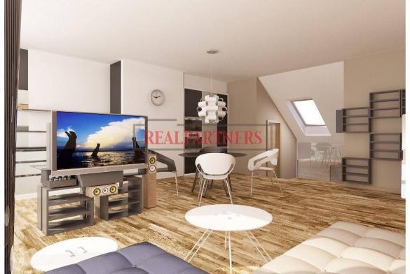 Nový 2+kk o ploše 70 m² + 11 m² terasa v Bubenči.