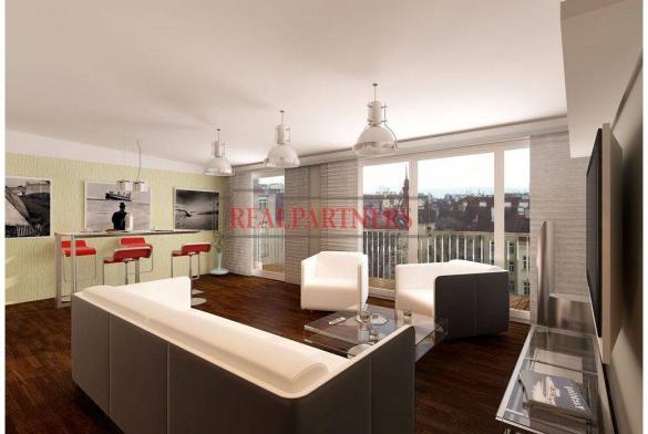 Nový 4+kk o ploše 153 m² + 2 x 11 m² terasa v Bubenči.
