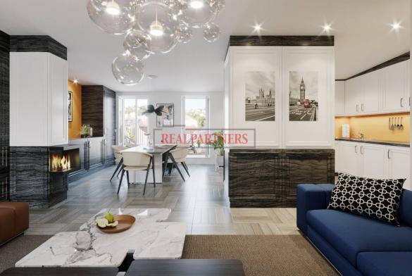 Nový, dvoupodlažní 4+kk s vyššími stropy o ploše 114 m² + 11 m² terasa, a volným výhledem.