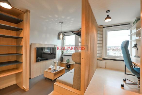 Ubytovací jednotka 1+kk o ploše 26,2  m² na Praze 2, pod Grébovkou.